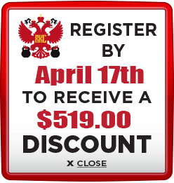 Receive $519 discount when you register by April 17th 2020