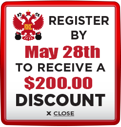 Receive $200 discount when you register by May 28th 2021
