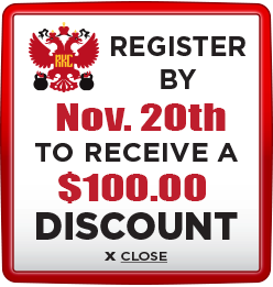 Receive $100 discount when you register by November 20th 2020