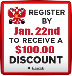 Receive $100 discount when you register by January 22nd 2020