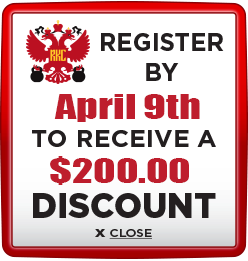 Receive $200 discount when you register by April 9th 2021