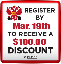 Receive $100 discount when you register by March 19th 2021