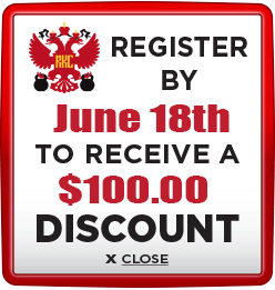 Receive $100 discount when you register by June 18th 2021