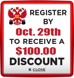 Receive $100 discount when you register by October 29th 2021