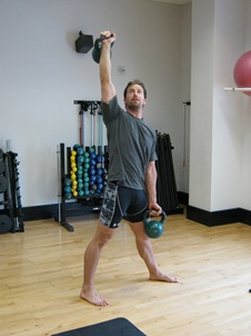 Double Kettlebell Windmill, top