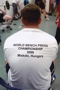 Coach Mills preparing to lift in Hungary