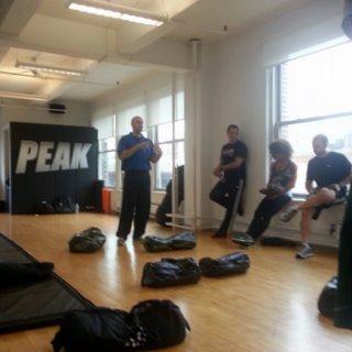 Senior RKC Josh Henkin in a fitness studio teaching a workshop about his DVRT System