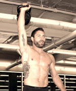Lawrence Dunning with Kettlebell