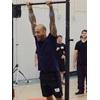 Angelo Gala about to perform a pull up at the PCC Workshop