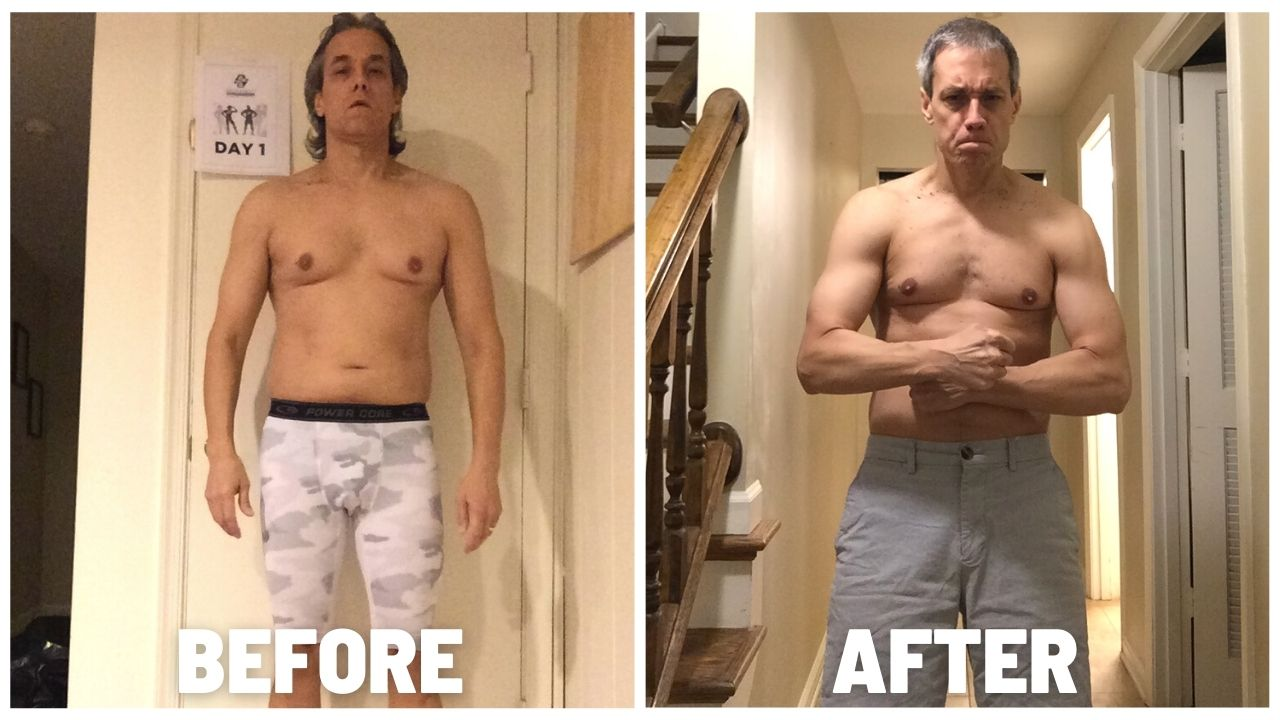 Ted Croushore Isochain Before and After photos: 120 days of Isochain Only Training