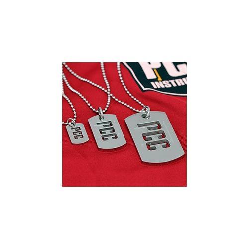 PCC Dog Tag Pendants in three sizes
