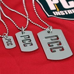 PCC Dog Tag Pendants in three sizes